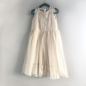 Tulle and Lace Flower Girl Dress